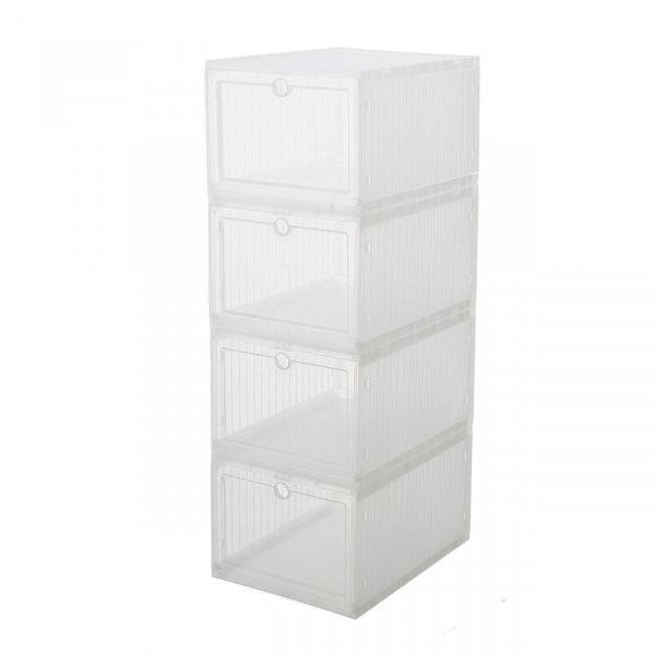 スニーカー収納ボックス  タワーボックス シューズラック 靴収納箱 組立  4個1セット|troskan|03