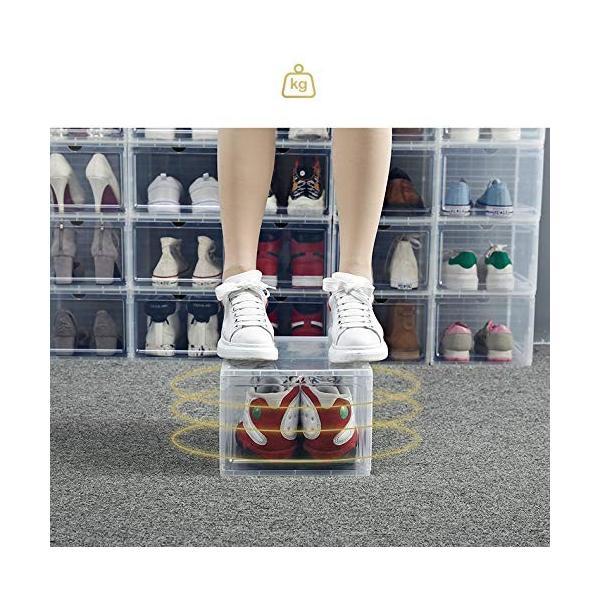 スニーカー収納ボックス  タワーボックス シューズラック 靴収納箱 組立  4個1セット|troskan|06