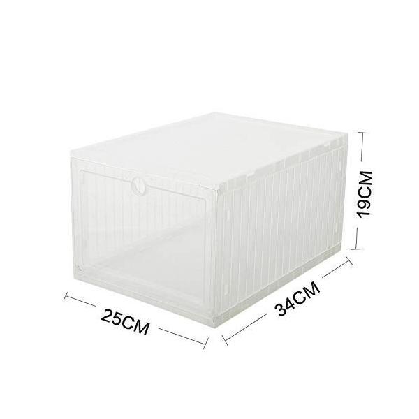 スニーカー収納ボックス  タワーボックス シューズラック 靴収納箱 組立  4個1セット|troskan|09