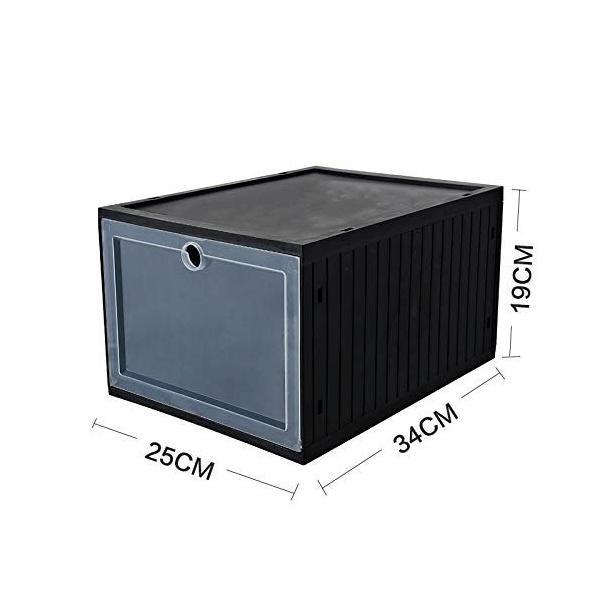 スニーカー収納ボックス  タワーボックス シューズラック 靴収納箱 組立  4個1セット|troskan|10