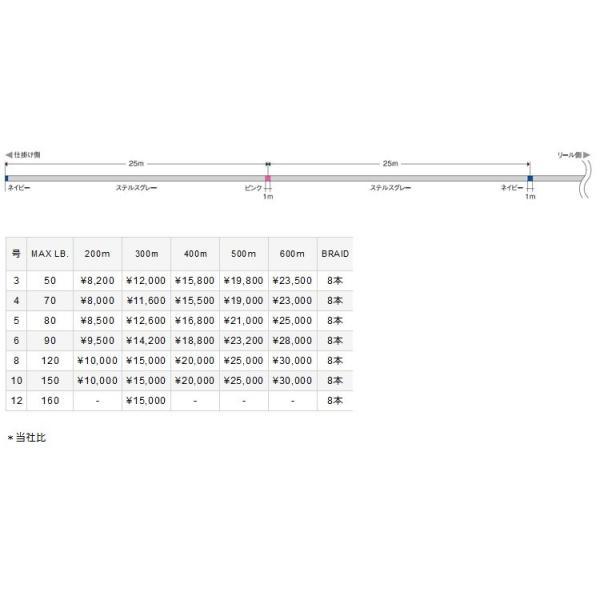 バリバス アバニ キャスティングPE SMP[スーパーマックスパワー]500M巻き【10号(150lb)】