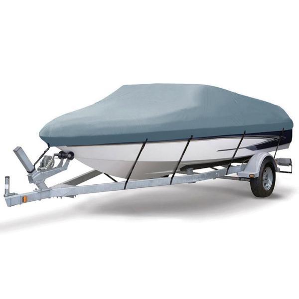 ボートカバー 防水 グレー色あせしない UV プロテクト スピードボートカバー ボート備品|trueblue