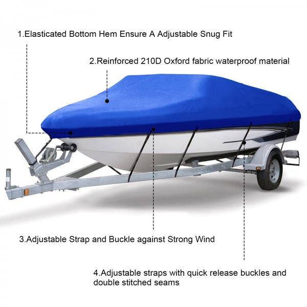 ボートカバー 防水 ブルー 色あせしない UV プロテクト スピードボートカバー|trueblue|04