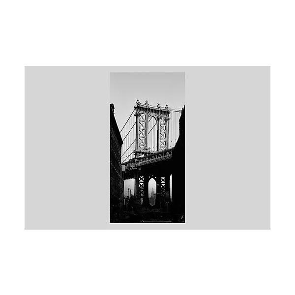 インテリア 絵 ポスター 雑貨 風景写真 アート ニューヨーク ブルックリン、ダンボ地区から見たマンハッタンブリッジ アルミ額 木額