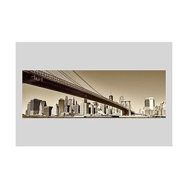 インテリア 絵 ポスター 雑貨 風景写真 アート ニューヨークブルックリンブリッジとマンハッタンの街 アルミ額 木額