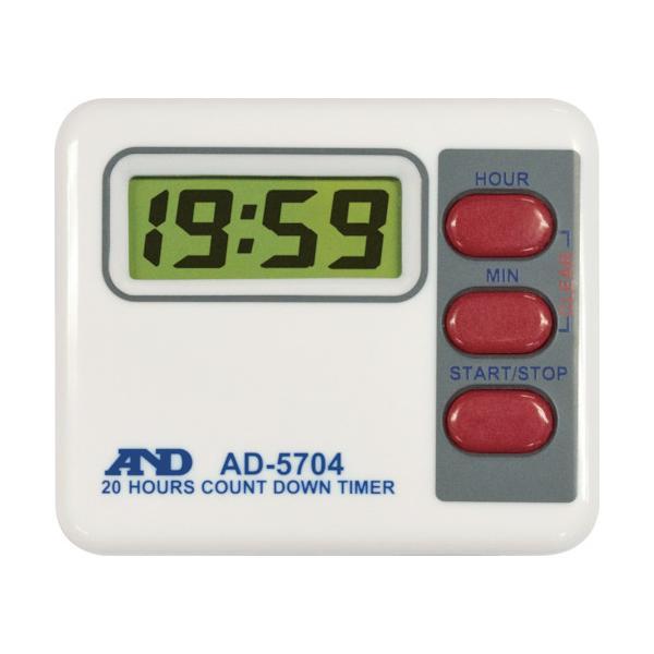 株 エー・アンド・デイ A&D デジタルタイマー20時間形タイマー 1個=1PK AD5704 期間限定 ポイント10倍