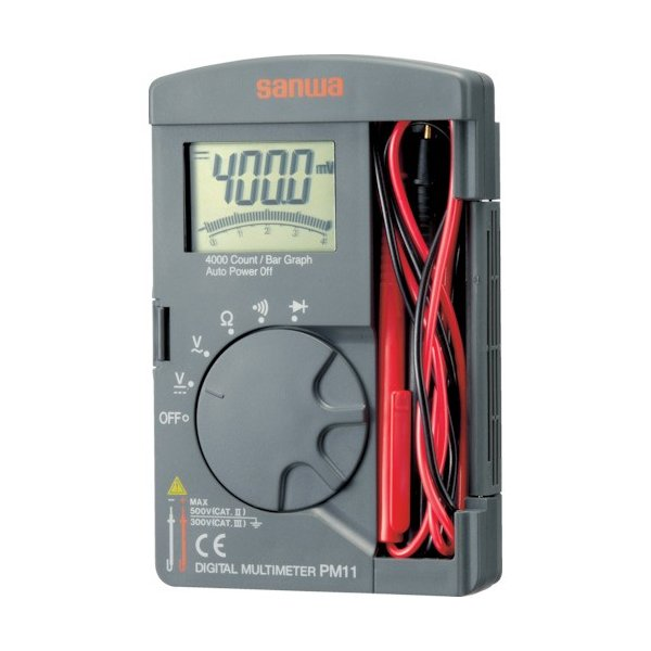 三和電気計器 株 SANWA ポケット型デジタルマルチメータ PM11 期間限定 ポイント10倍