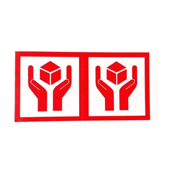 トラスコ中山 株 TRUSCO 荷札 「取扱注意」マーク 1シートに4枚入×10シート TNFM-04 期間限定 ポイント10倍