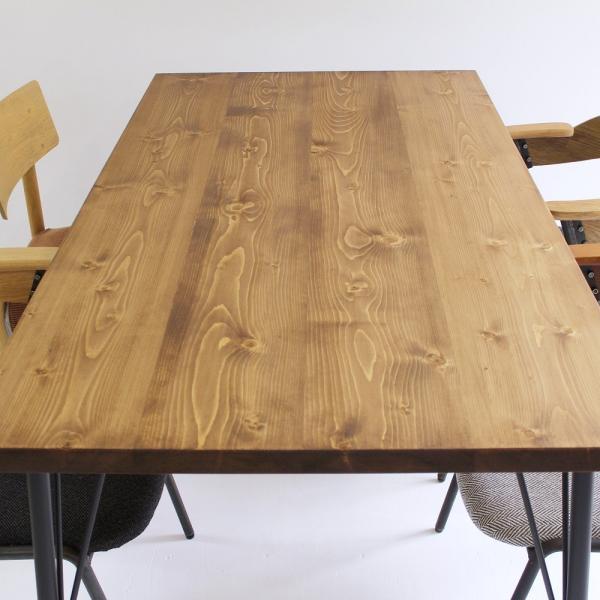 180×80cm ダイニングテーブル 180センチ アイアン 学習机 作業台 手作り ハンドメイド コーヒーテーブル カフェテーブル アンティーク おしゃれ カフェ風 単品|trunk-furniture|02