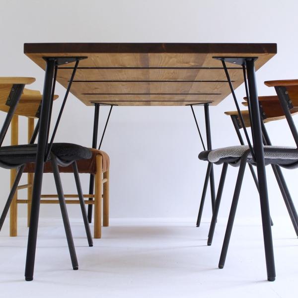 180×80cm ダイニングテーブル 180センチ アイアン 学習机 作業台 手作り ハンドメイド コーヒーテーブル カフェテーブル アンティーク おしゃれ カフェ風 単品|trunk-furniture|03