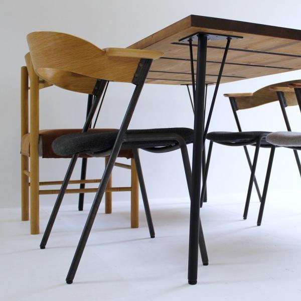 180×80cm ダイニングテーブル 180センチ アイアン 学習机 作業台 手作り ハンドメイド コーヒーテーブル カフェテーブル アンティーク おしゃれ カフェ風 単品|trunk-furniture|04