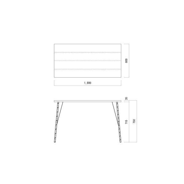 180×80cm ダイニングテーブル 180センチ アイアン 学習机 作業台 手作り ハンドメイド コーヒーテーブル カフェテーブル アンティーク おしゃれ カフェ風 単品|trunk-furniture|06