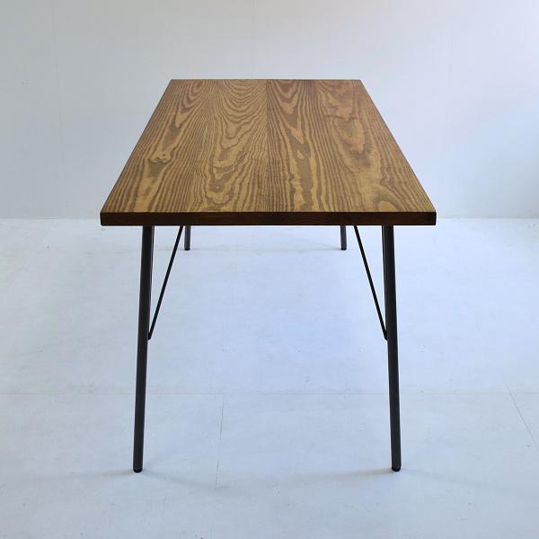 180×80cm 180センチ パイン無垢のダイニングテーブル 引き出し 学習机 作業台 手作り ハンドメイド 4人用 コーヒーテーブル カフェテーブル アイアン脚|trunk-furniture|04