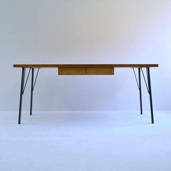 180×80cm 180センチ パイン無垢のダイニングテーブル 引き出し 学習机 作業台 手作り ハンドメイド 4人用 コーヒーテーブル カフェテーブル アイアン脚|trunk-furniture|07