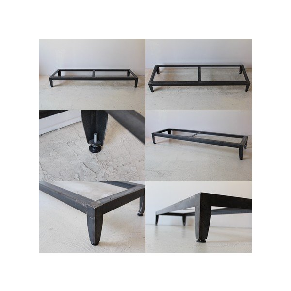 《Iron Option》木脚をアイアン台座に変更できます。鉄脚 手作り ハンドメイド 溶接 土台 Lアングル加工 アイアン スチール|trunk-furniture|02