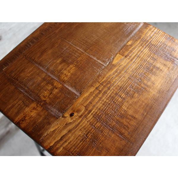 アイアンスツール Iron stool ヴィンテージ加工を施したパイン無垢材とアイアンのコンビネーションが際立つスツール インダストリアル  おしゃれ|trunk-furniture|02