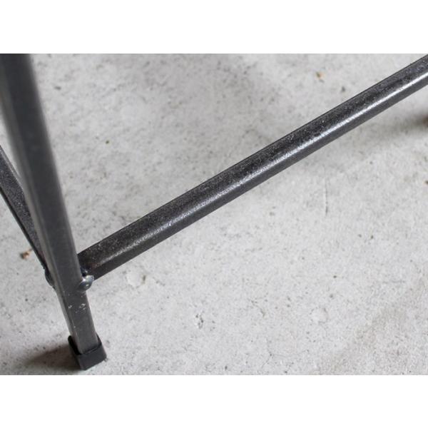 アイアンスツール Iron stool ヴィンテージ加工を施したパイン無垢材とアイアンのコンビネーションが際立つスツール インダストリアル  おしゃれ|trunk-furniture|04