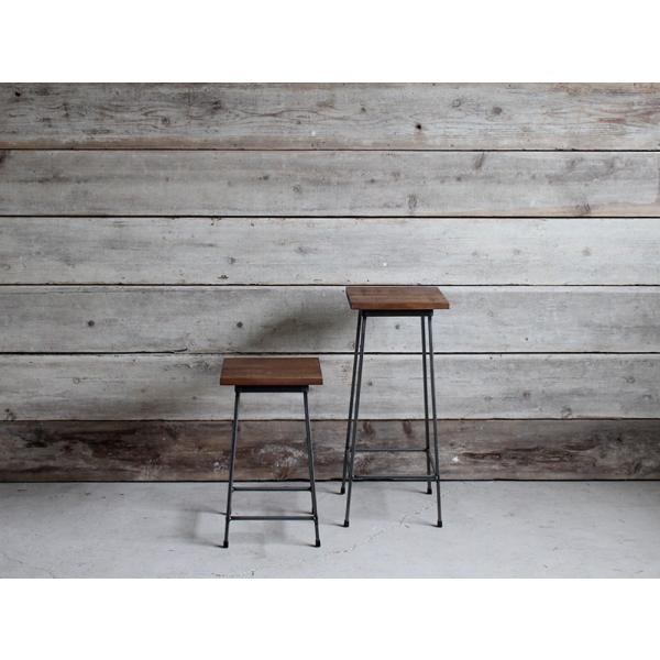 アイアンスツール Iron stool ヴィンテージ加工を施したパイン無垢材とアイアンのコンビネーションが際立つスツール インダストリアル  おしゃれ|trunk-furniture|05