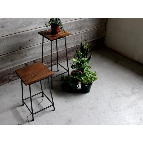 アイアンスツール Iron stool ヴィンテージ加工を施したパイン無垢材とアイアンのコンビネーションが際立つスツール インダストリアル  おしゃれ|trunk-furniture|07