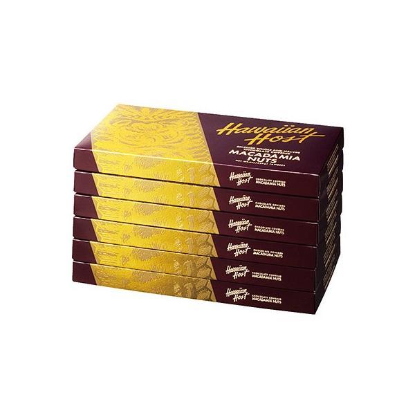 ハワイアンホスト ゴールドクラシック マカデミアナッツチョコレート 6箱セット