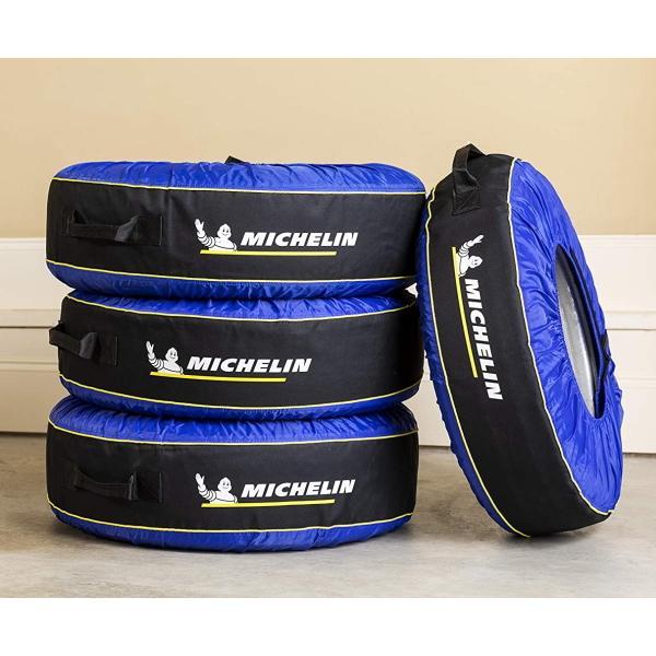 ミシュラン タイヤカバー Michelin タイヤバック 4個セット タイヤトート TireTote タイヤ用 4枚セット タイヤ直径 56cm 〜 79cm 対応 サイズ調整付|try3|03