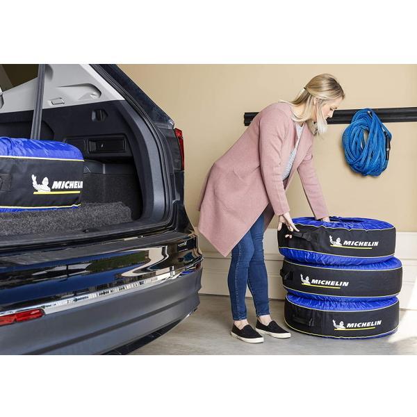 ミシュラン タイヤカバー Michelin タイヤバック 4個セット タイヤトート TireTote タイヤ用 4枚セット タイヤ直径 56cm 〜 79cm 対応 サイズ調整付|try3|04