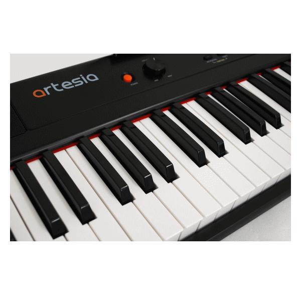 Artesia 電子ピアノ 88鍵盤 PERFORMER/BK ブラック 軽量スリム設計 乾電池 2way駆動 12種類の音色 サスティンペダル付属 PERFORMER BK 軽量 ピアノ|try3|02