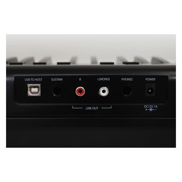 Artesia 電子ピアノ 88鍵盤 PERFORMER/BK ブラック 軽量スリム設計 乾電池 2way駆動 12種類の音色 サスティンペダル付属 PERFORMER BK 軽量 ピアノ|try3|03