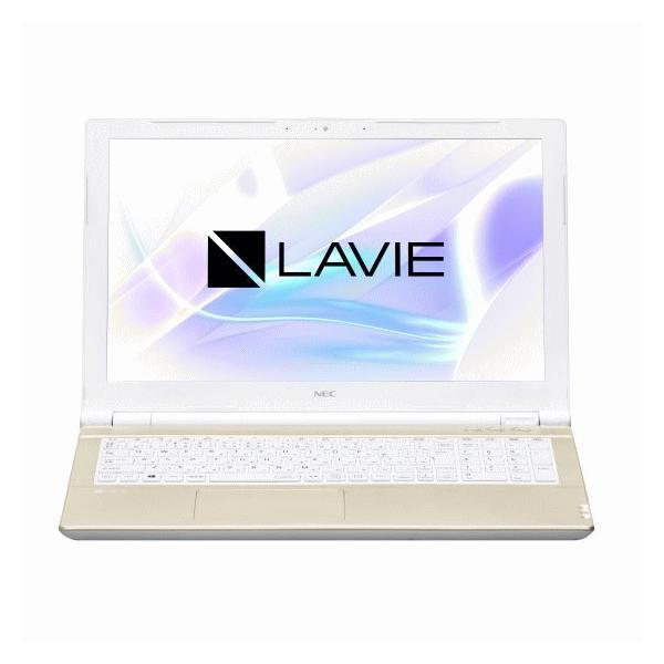 NEC LAVIE ノートパソコン 本体 Smart NS(B) Office搭載 筆ぐるめ シャンパンゴールド Windows 10 Home 15.6型 Celeron 4GB 500GB マウス付き PC-SN18CRSAB-2|try3|02