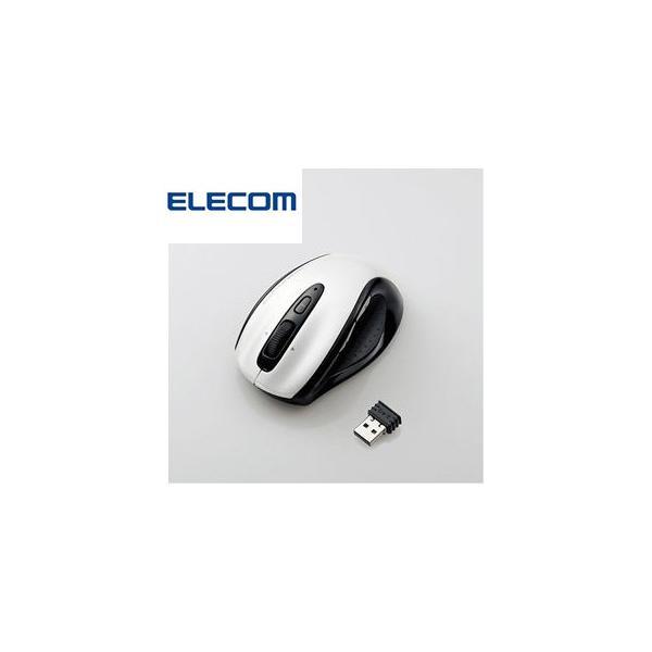 マウス ワイヤレス M-BL09DBWH ホワイト ELECOM エレコム 5ボタン BlueLEDマウス 2.4GHz MBL09DBWH 0211|try3
