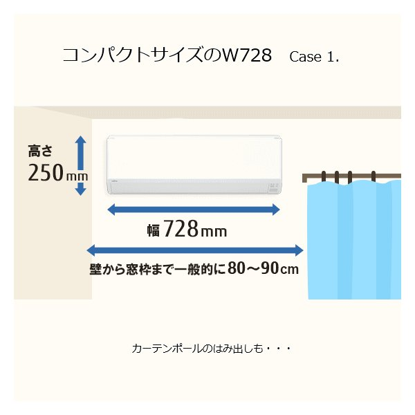 富士通ゼネラル ルームエアコン nocria ノクリア Cシリーズ AS-C28J-W 冷房8-12畳 暖房8-10畳 室外機 AO-C28J 冷暖房エアコン コンパクト ASC28JW ASC28J try3 11