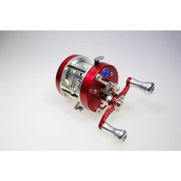 五十鈴工業 ベイトリール BC621SSS(SILVER FRAME) RED|tryangleshop