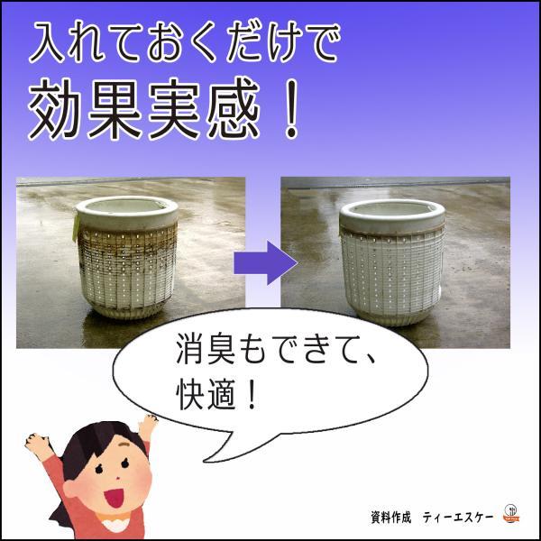 洗濯槽クリーナー 洗濯槽快 30g  2包組 ネット付き ホタテ貝焼成カルシウム100%|tsk-store|05