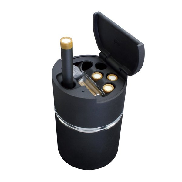 DT-12 Ploom TECH 専用 キープトラッシュ プルームテック のアイテムをまとめて置けるドリンクホルダーサイズの吸殻入れ 灰皿 YAC ヤック|tsuchiya-yac|03