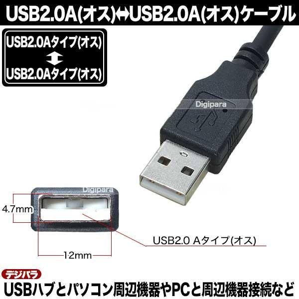 USBケーブル 1m USB2.0Aタイプ(オス)-USB2.0Aタイプ(オス)  USBハブ 周辺機器接続等 COMON 2AA-10 C13399 tsuhan-express 05