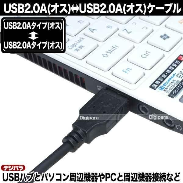 USBケーブル 1m USB2.0Aタイプ(オス)-USB2.0Aタイプ(オス)  USBハブ 周辺機器接続等 COMON 2AA-10 C13399 tsuhan-express 10