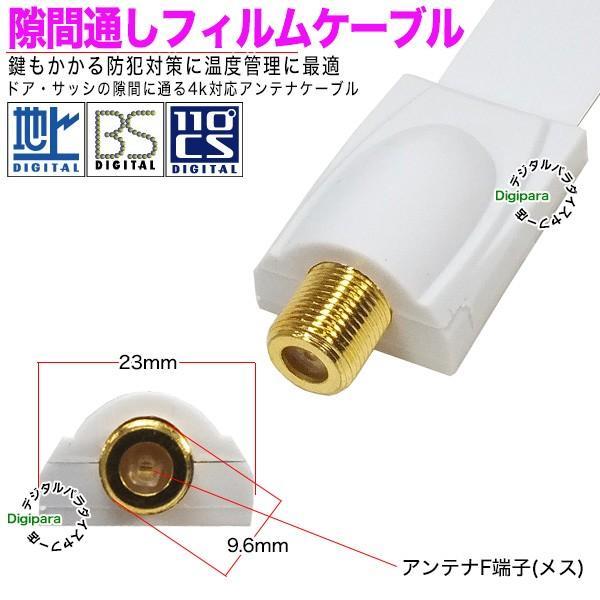 フイルムアンテナケーブル薄さ 0.25mm F端子(メス)⇔F端子(メス)長さ:約24cm 75Ω・ COMON F-FL ・ 隙間通し デジパラ C83965|tsuhan-express|03