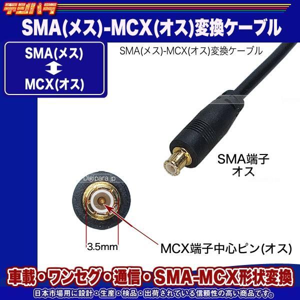 SMA⇔MCX変換ケーブル SMA(メス)⇔MCX(オス)全長:約10cm ワンセグ 無線機 業務機器 車載機器 通信 計測用 SMAMCX-01 tsuhan-express 04