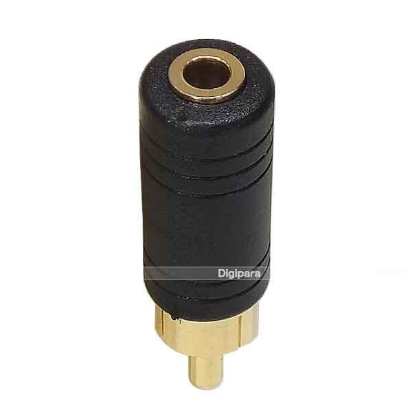 3.5mmモノラル(メス)→RCAプラグ(オス)変換 オーディオ端子変換 マイク オーディオ変換 ZUUN 35MZR デジパラ Z00471