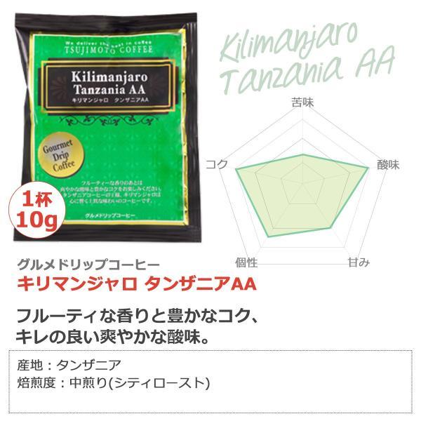 グルメドリップバッグ コーヒー 珈琲 キリマンジャロ -タンザニアAA-100杯分 送料無料|tsujimotocoffee|02