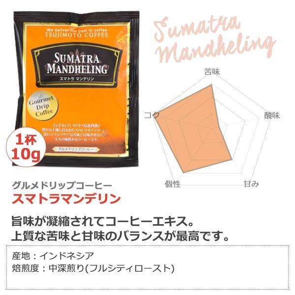 グルメドリップバッグコーヒー 珈琲スマトラマンデリン 50杯分 tsujimotocoffee 03