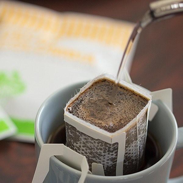 お中元 御中元 コーヒー 珈琲 ドリップバッグ ノンカフェイン カフェインレス デカフェ ギフト gift お徳用 100杯分|tsujimotocoffee|04