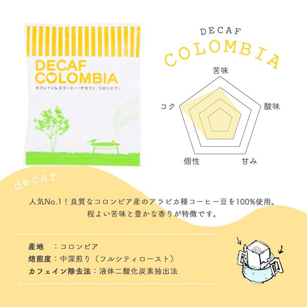 珈琲 コーヒー ドリップバッグ お試し 高級 デカフェ 3種6杯セット カフェインレス tsujimotocoffee 02