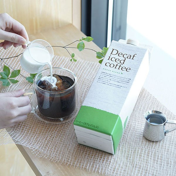 お中元 御中元 アイスコーヒー 珈琲 デカフェ ハウスブレンド1,000ml 無糖 ×6本 カフェインレス ギフト gift|tsujimotocoffee|03