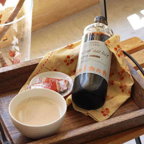 デカフェ オレ・ベース 加糖 てんさい糖入り 600ml×1本 豆乳ラテ カフェオレの素 かき氷 シロップ|tsujimotocoffee|02