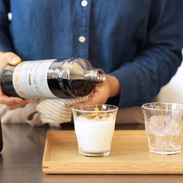 デカフェ オレ・ベース 加糖 てんさい糖入り 600ml×1本 豆乳ラテ カフェオレの素 かき氷 シロップ|tsujimotocoffee|03