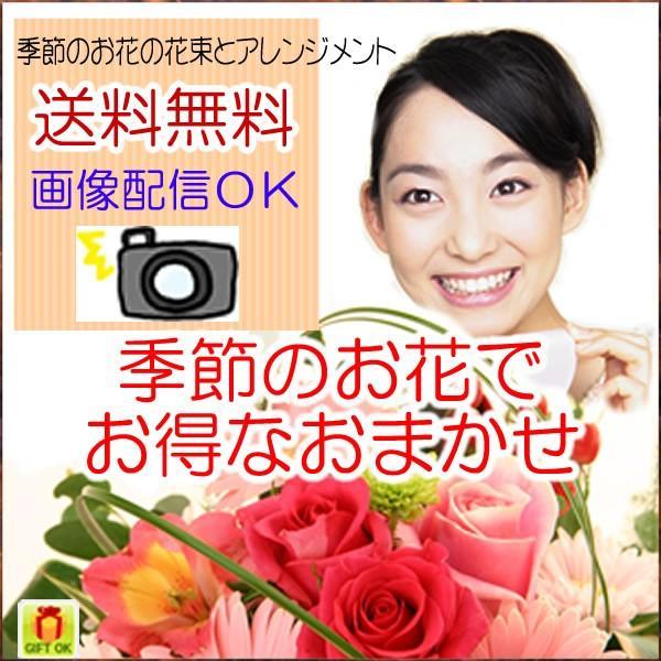 花 ギフト 誕生日 プレゼント フラワーアレンジメント  送料無料 季節の花でおまかせ お得サイズS  画像配信OK|tsukaguchi