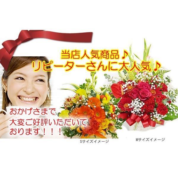 花 ギフト 誕生日 プレゼント フラワーアレンジメント  送料無料 季節の花でおまかせ お得サイズS  画像配信OK|tsukaguchi|07