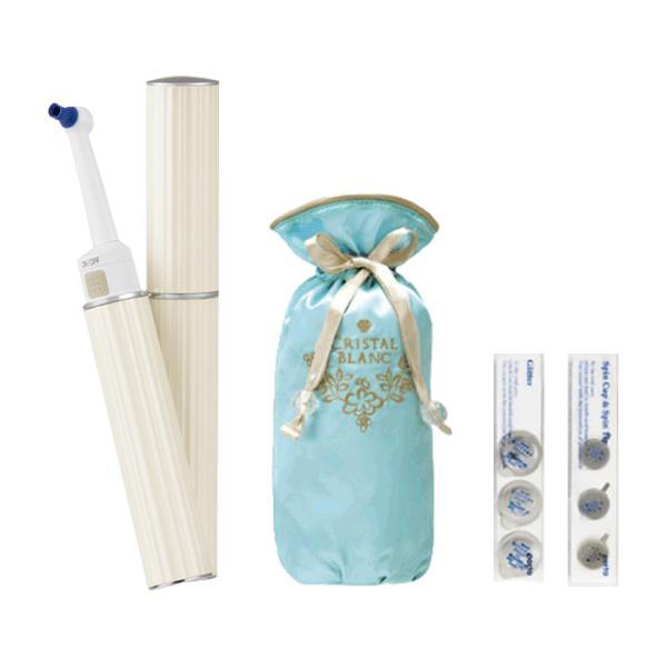 電動歯ブラシ ホワイトニング クリスタルブラン オーラルケア口臭予防口臭対策 AIM-OC01S スターターセット クリスタル・ブラン メーカー公式店|tsukamotoaim