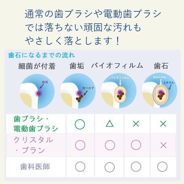 電動歯ブラシ ホワイトニング クリスタルブラン オーラルケア口臭予防口臭対策 AIM-OC01S スターターセット クリスタル・ブラン メーカー公式店|tsukamotoaim|05
